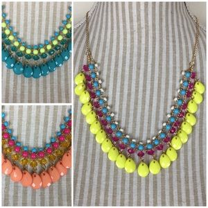 Jewelry - NWOT Bright colored Statement Necklaces